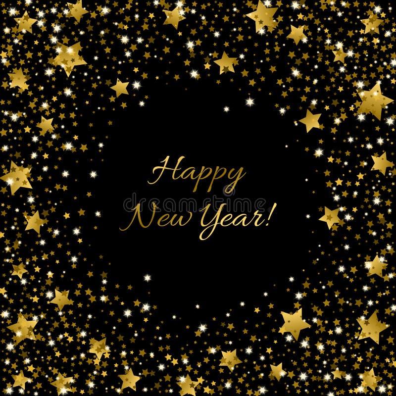 Lamé dello zecchino di Ssparkle della carta del buon anno che bling per gli inviti illustrazione di stock
