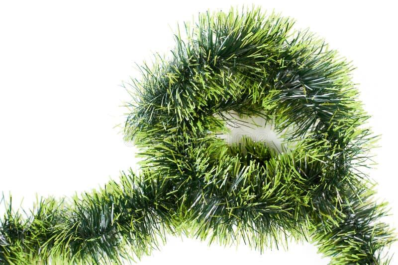 Lamé verde di Natale su fondo bianco immagine stock libera da diritti