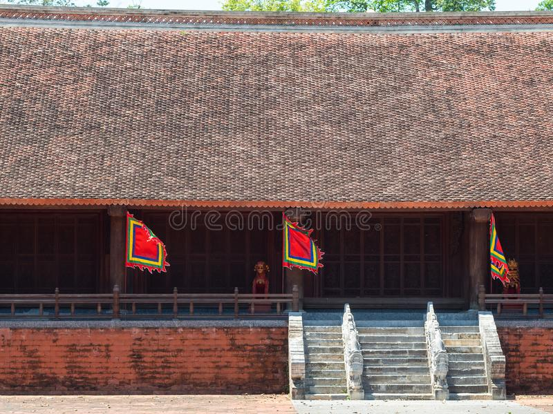 Lam Kinh temple in Thanh Hoa, Vietnam. The Lam Kinh temple in Xuan Lam and Lam Son townlet of Tho Xuan district, Thanh Hoa, Vietnam. The temple was built by royalty free stock image