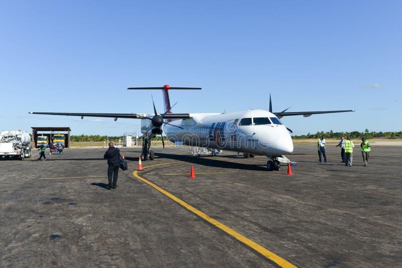 LAM Mozambique Airline imágenes de archivo libres de regalías