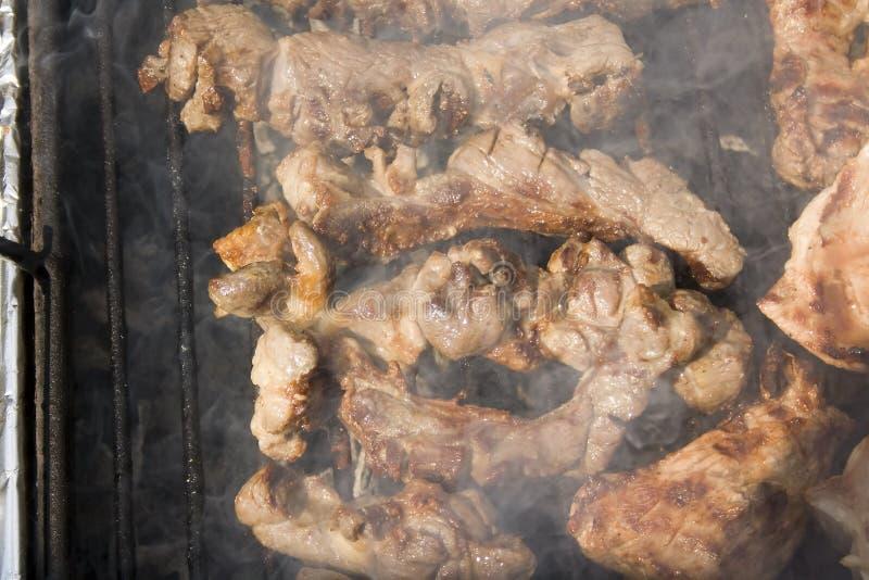 Lam op barbecue stock fotografie