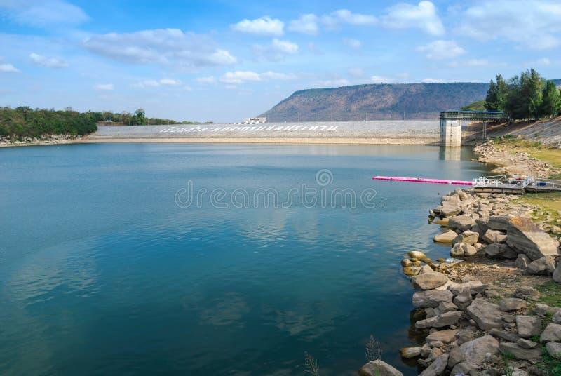 Lam Takhong Dam royaltyfri fotografi