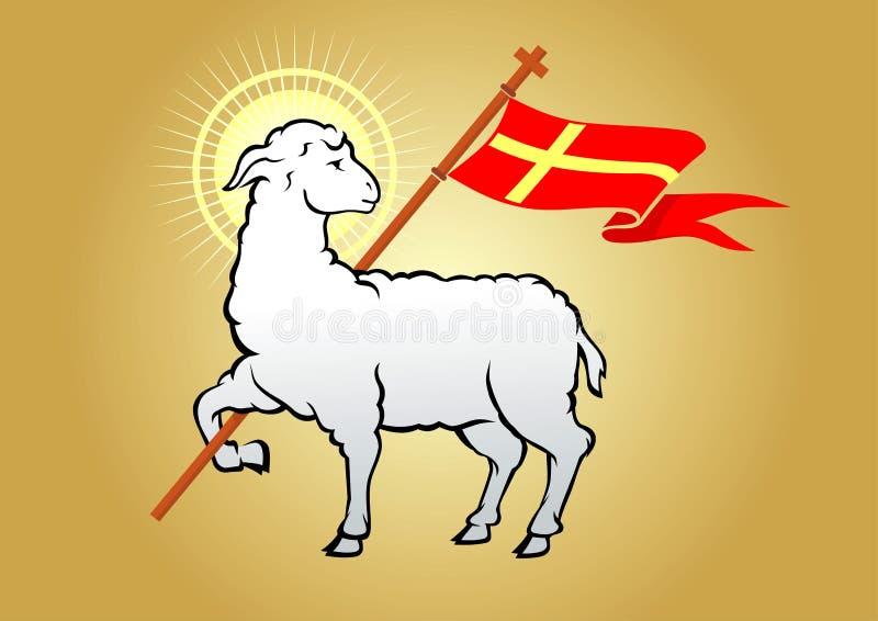 Lam van godssymbool stock illustratie