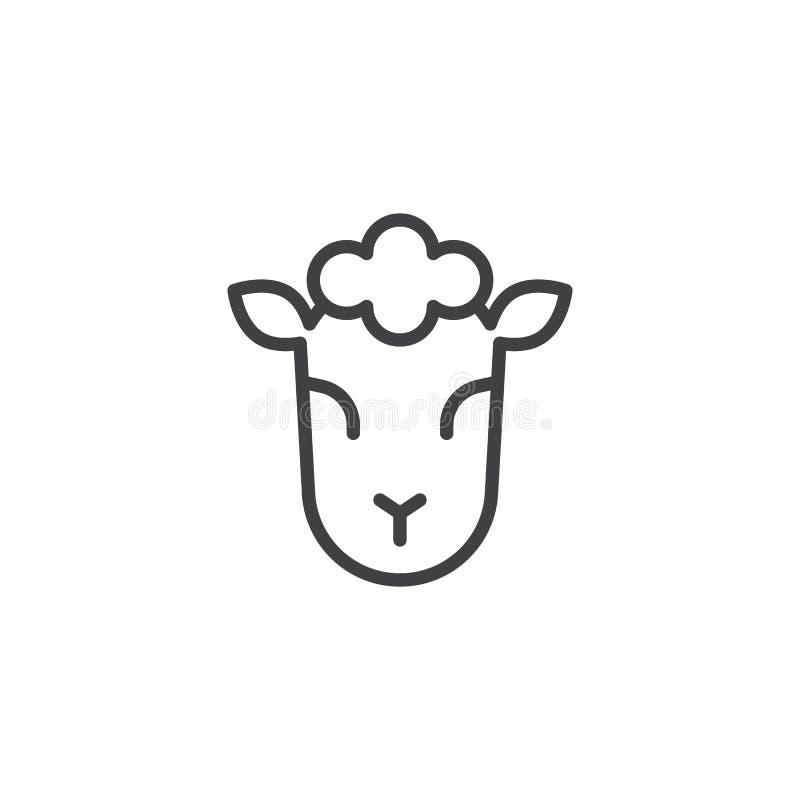 Lam van het pictogram van het Godsoverzicht royalty-vrije illustratie