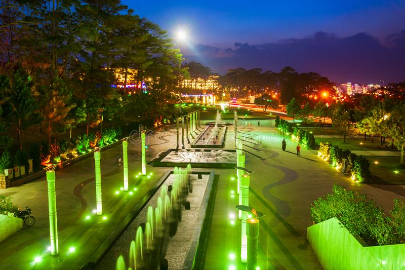 Lam Vien Square i Dalat arkivfoton