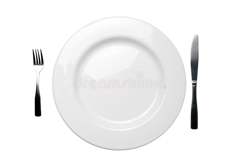 Lama della forcella della zolla di pranzo e percorso di residuo della potatura meccanica bianchi immagini stock libere da diritti