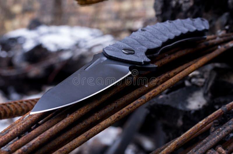 Lama di un coltello Foto ad angolo immagine stock libera da diritti