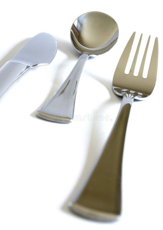 Lama, forchetta e cucchiaio immagini stock libere da diritti