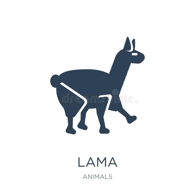 lama icon in trendy design style. lama icon isolated on white background. lama vector icon simple and modern flat symbol for web stock illustration