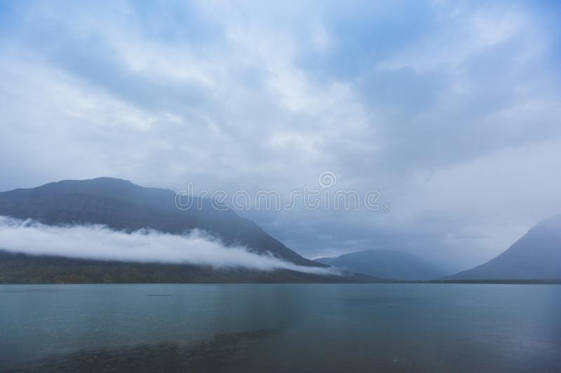 Lama Lake on Putorana Plateau. Russia royalty free stock image