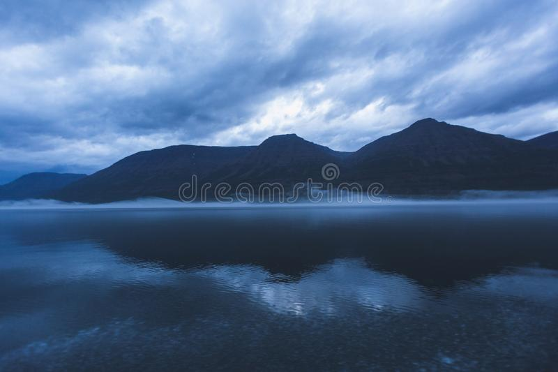 Lama Lake on Putorana Plateau. Russia stock image