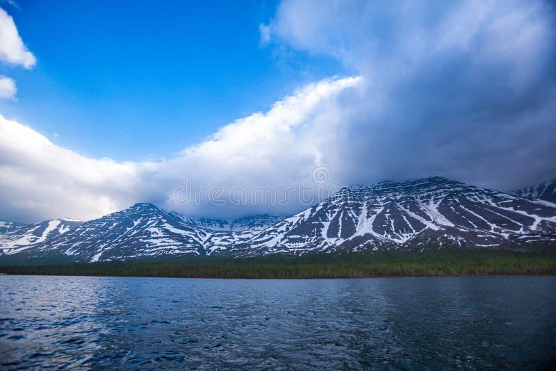 Lama Lake on Putorana Plateau. Russia stock photography