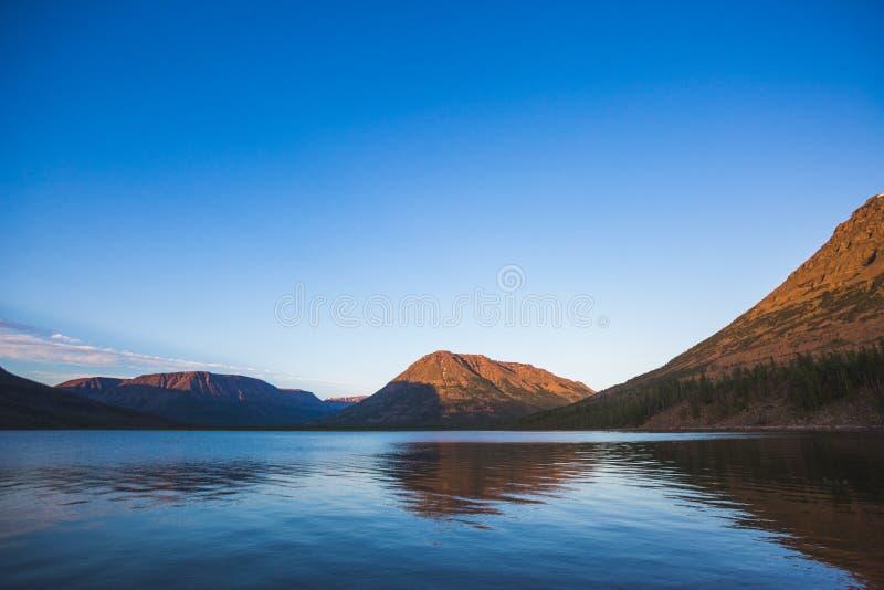 Lama Lake on Putorana Plateau. Russia stock photos