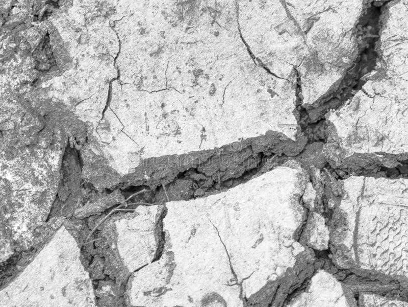 Lama salgado de cima de Quebras na lama devido à seca extrema foto de stock royalty free