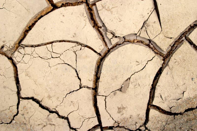 A lama seca racha a textura fotografia de stock