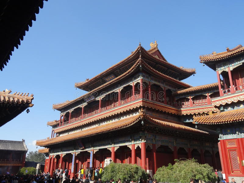 Lama Temple i Peking arkivbilder