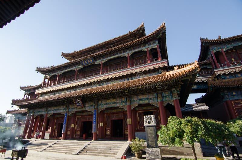 Lama Temple i Peking arkivbild