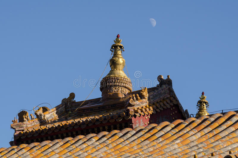 Lama Temple in Peking stockfotos