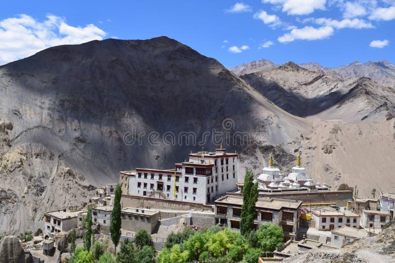 Lama yuru monastery near Leh. Located in cold desert of Himalayan plateau stock photo