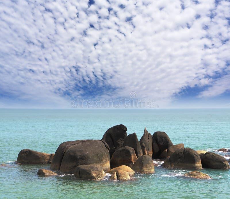 lamai απότομων βράχων παραλιών στοκ εικόνα με δικαίωμα ελεύθερης χρήσης