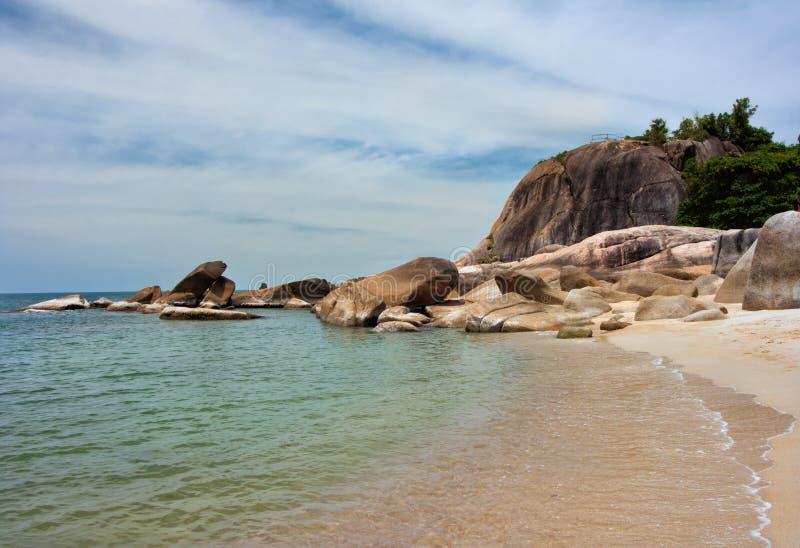Lamai Beach. On Ko Samui island. Gulf of Thailand royalty free stock photos