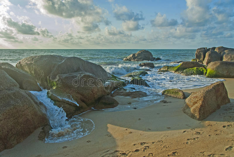 Lamai Beach. Of Koh Samui, Thailand royalty free stock photo
