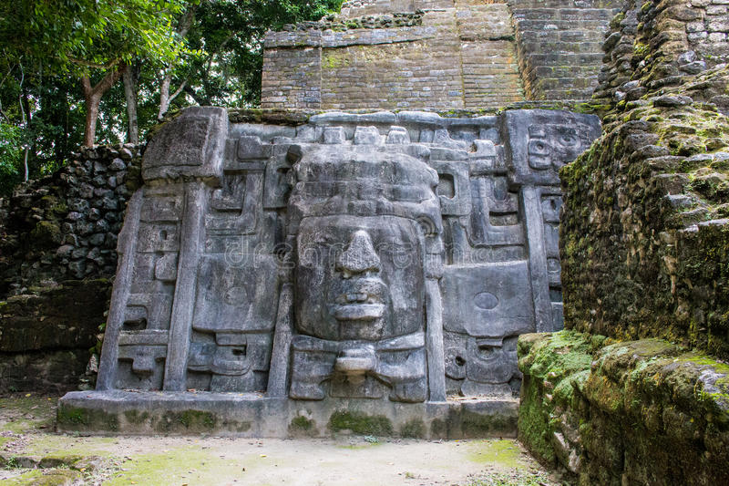 Lamanai Mayan Ruins in Belize. stock photos