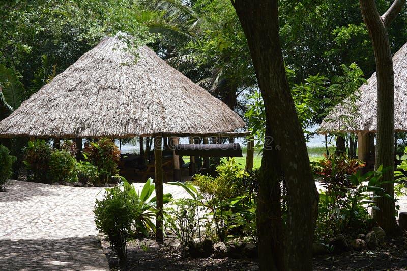 Lamanaidorp, Belize stock afbeelding