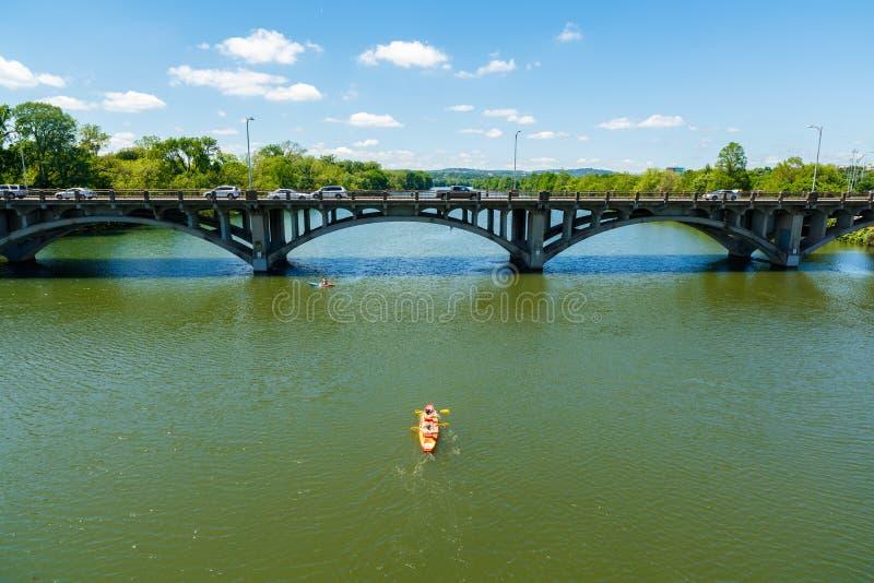 Lamar街桥梁 免版税图库摄影