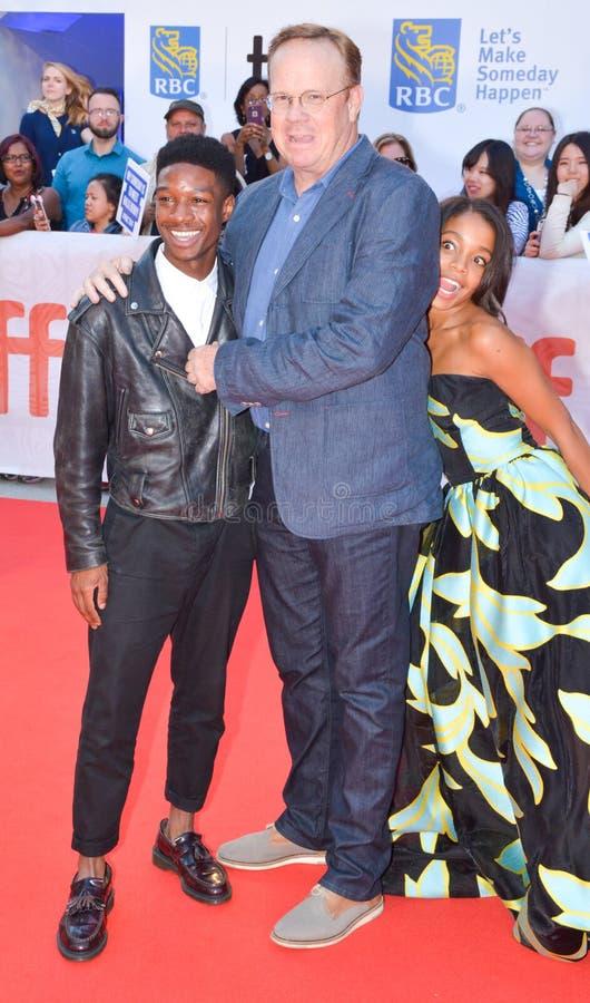 Lamar Johnson, Peter Mackenzie und Rachel Hilson für KÖNIGE führen an internationalem Filmfestival 2017 Torontos erstauf lizenzfreie stockfotos