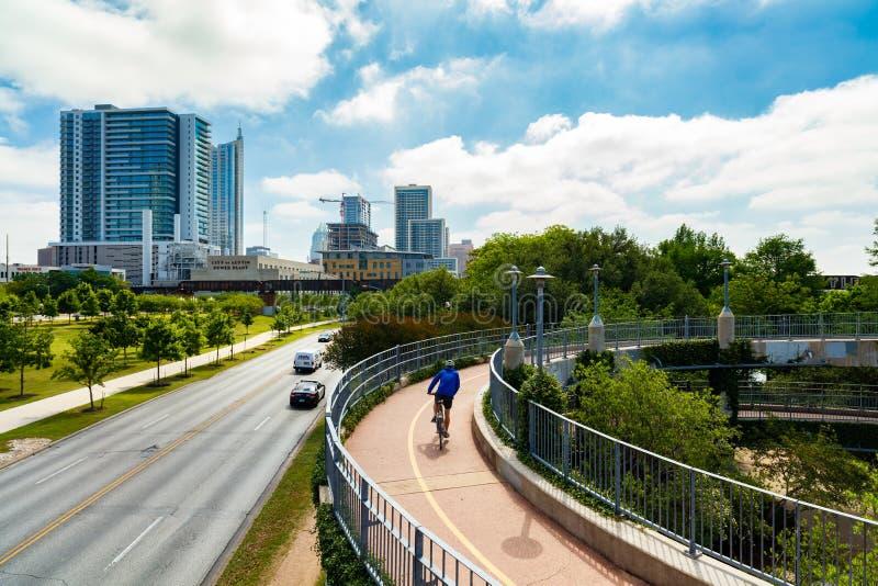 Lamar Pedestrian Bridge royalty-vrije stock foto