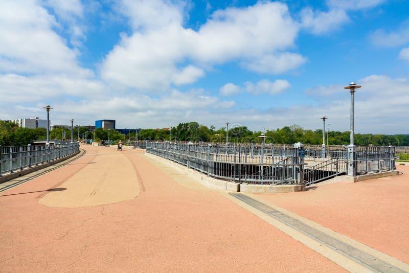 Lamar Pedestrian Bridge royalty-vrije stock fotografie