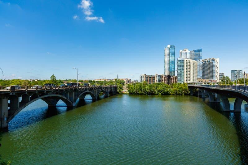 Lamar Street Bridges royalty-vrije stock foto