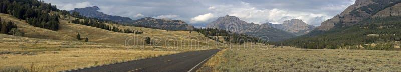 Lamar Valley Yellowstone Panorama royalty free stock photo