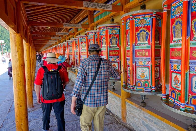 Lamasery de Labrang foto de archivo