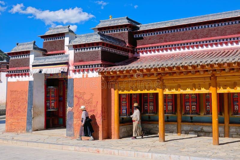 Lamasery de Labrang fotos de archivo