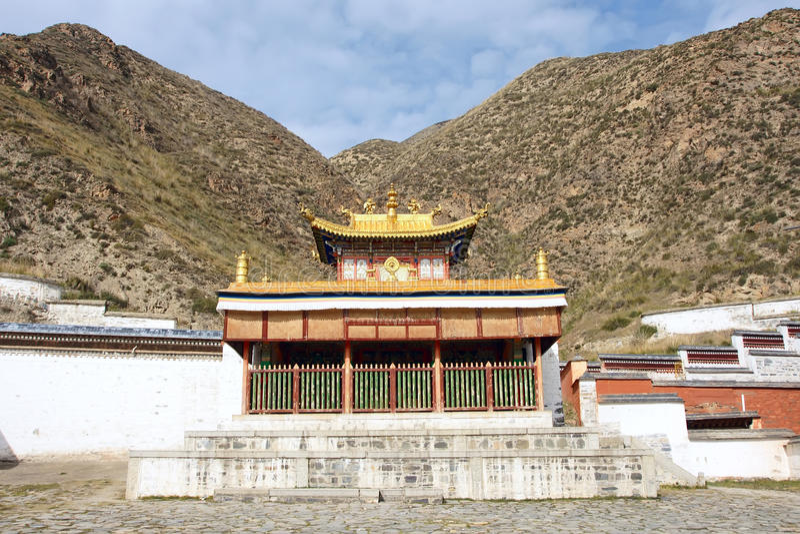 Lamasery de Labrang imágenes de archivo libres de regalías