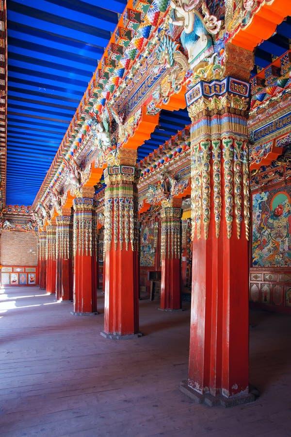 Download Lamasery hall stock photo. Image of painting, langmusi - 27362860