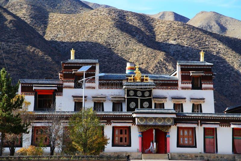 Lamasery Labrang тибетского буддизма в Китае стоковые изображения rf