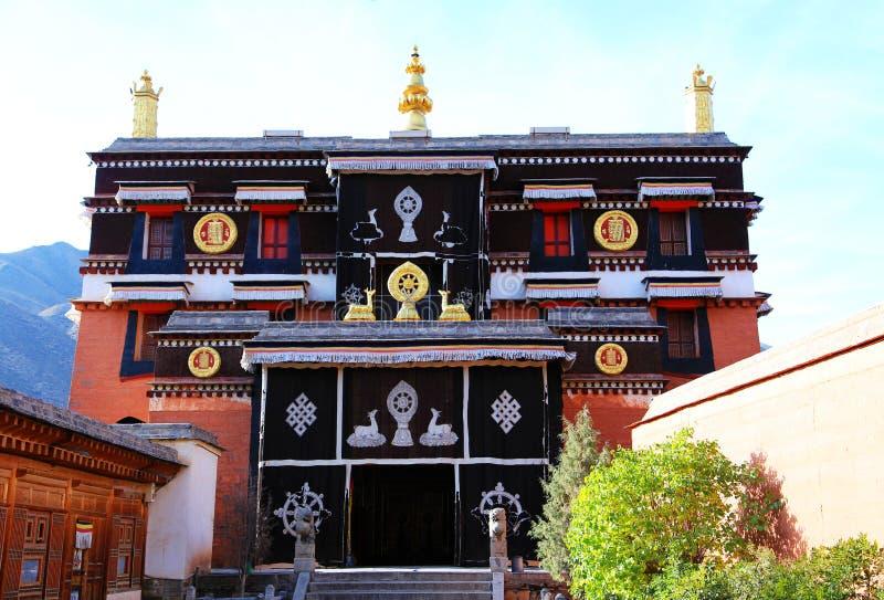 Lamasery Labrang тибетского буддизма в Китае стоковая фотография rf