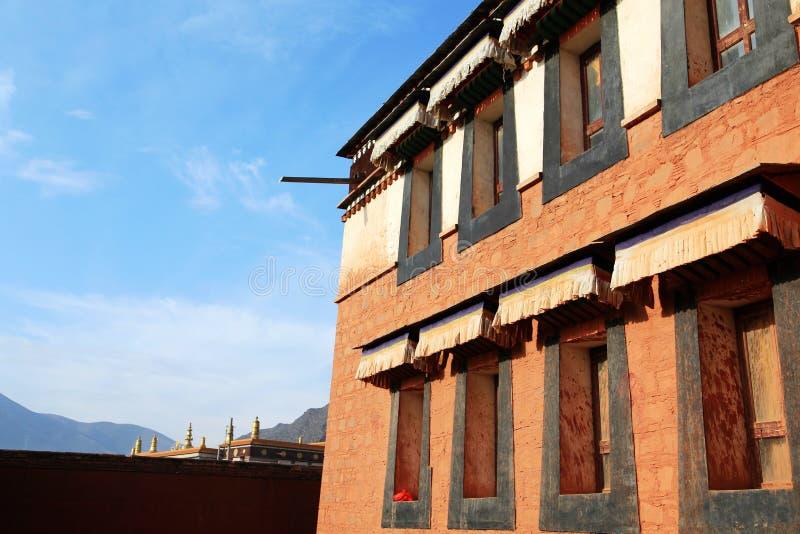 Lamasery Labrang тибетского буддизма в Китае стоковое изображение