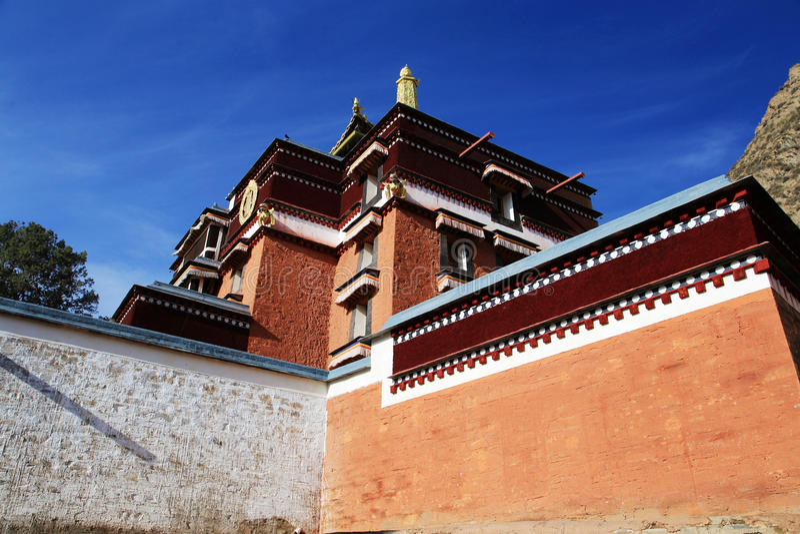 Lamasery Labrang тибетского буддизма в Китае стоковое фото rf