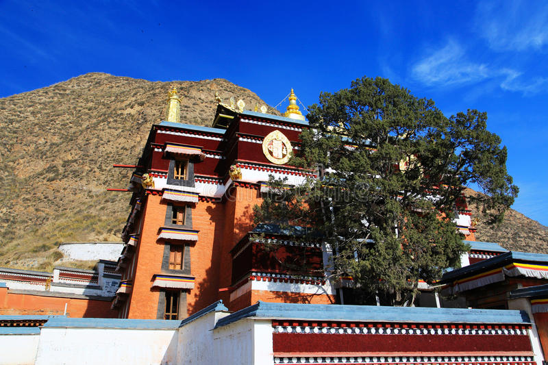 Lamasery Labrang тибетского буддизма в Китае стоковые фотографии rf