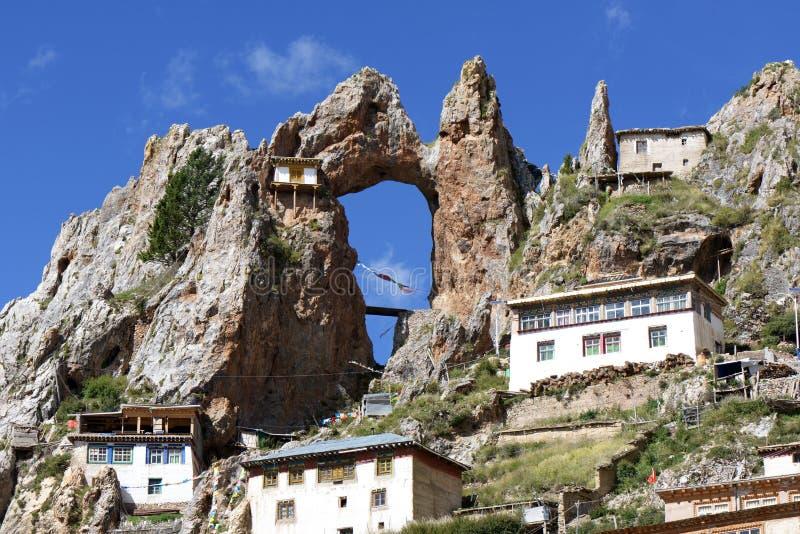 Lamasery tibetano Zishusi immagini stock