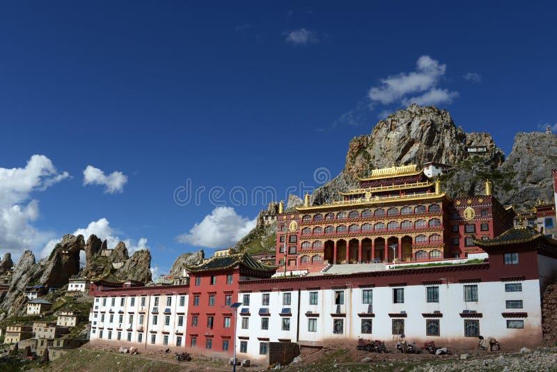 Lamasery tibetano Zizhusi fotografie stock