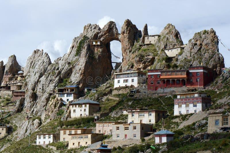 Lamasery tibetano Zizhusi immagine stock