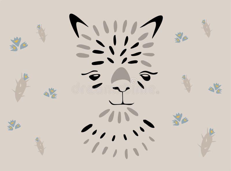 Lamavektorn klottrar på grått Ingen lama för miljardär för problama motivational rik stock illustrationer