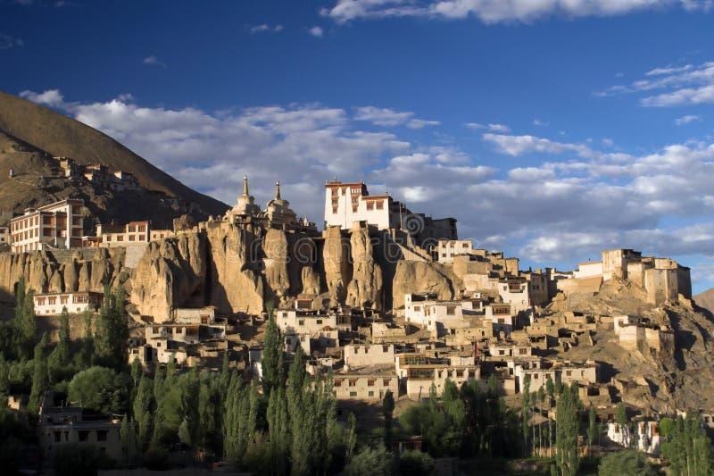 Lamayuru buddhist monastery and village in Ladakh stock image