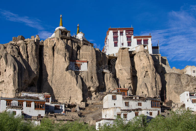 Lamayuru buddyjski monaster Ladakh w północnym India zdjęcia royalty free
