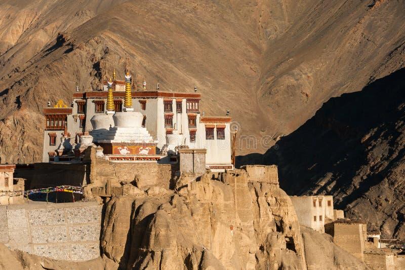 Lamayuru Gompa lub Yuru, Kargil okręg, Zachodni Ladakh, India obrazy stock